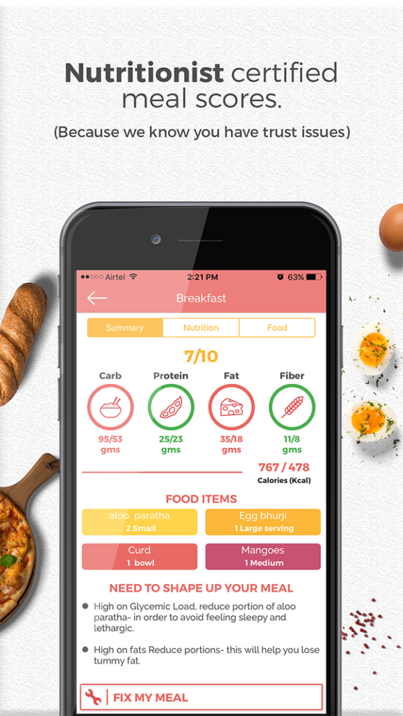 Bon happetee weight loss and weight gain app